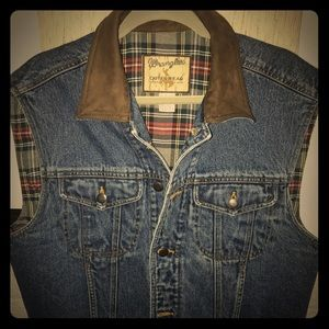 Wrangler Denim Vest Large